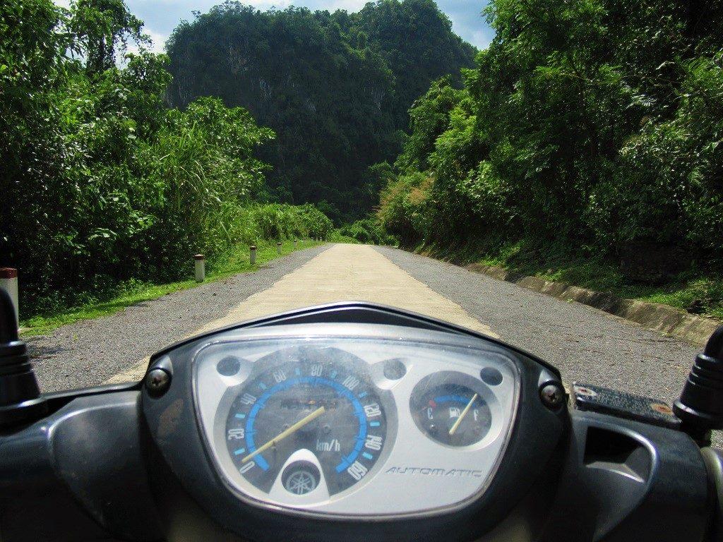 Riding Route DT20, Phong Nha, Vietnam