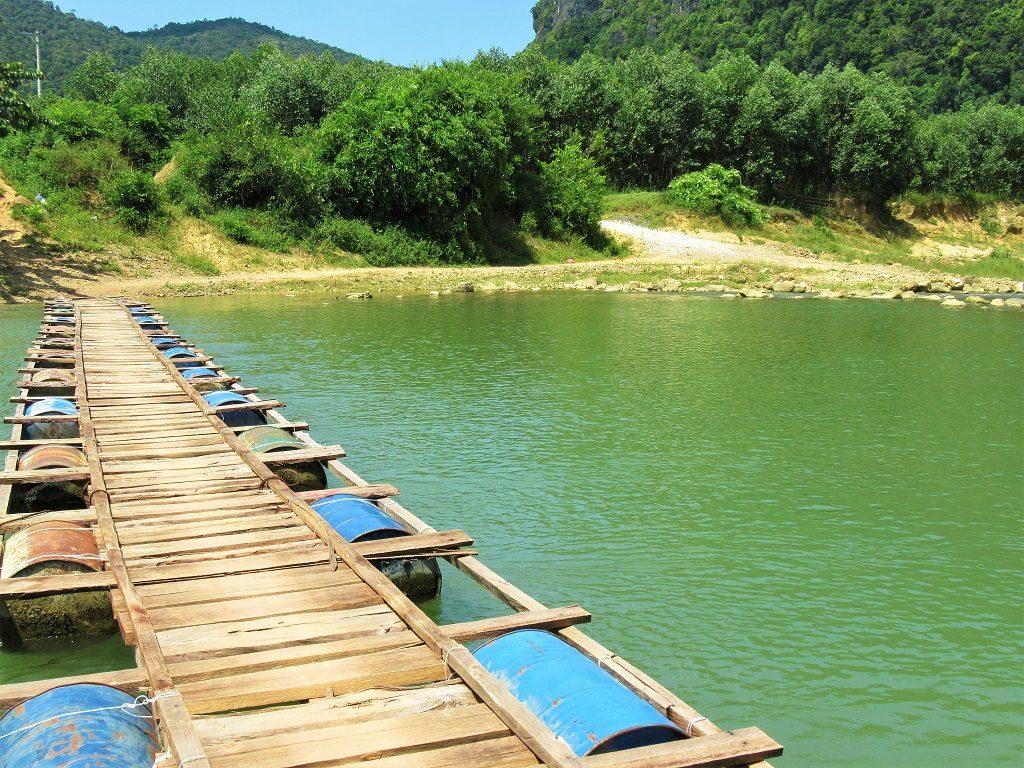 Pontoon bridge, Phong Nha, Vietnam