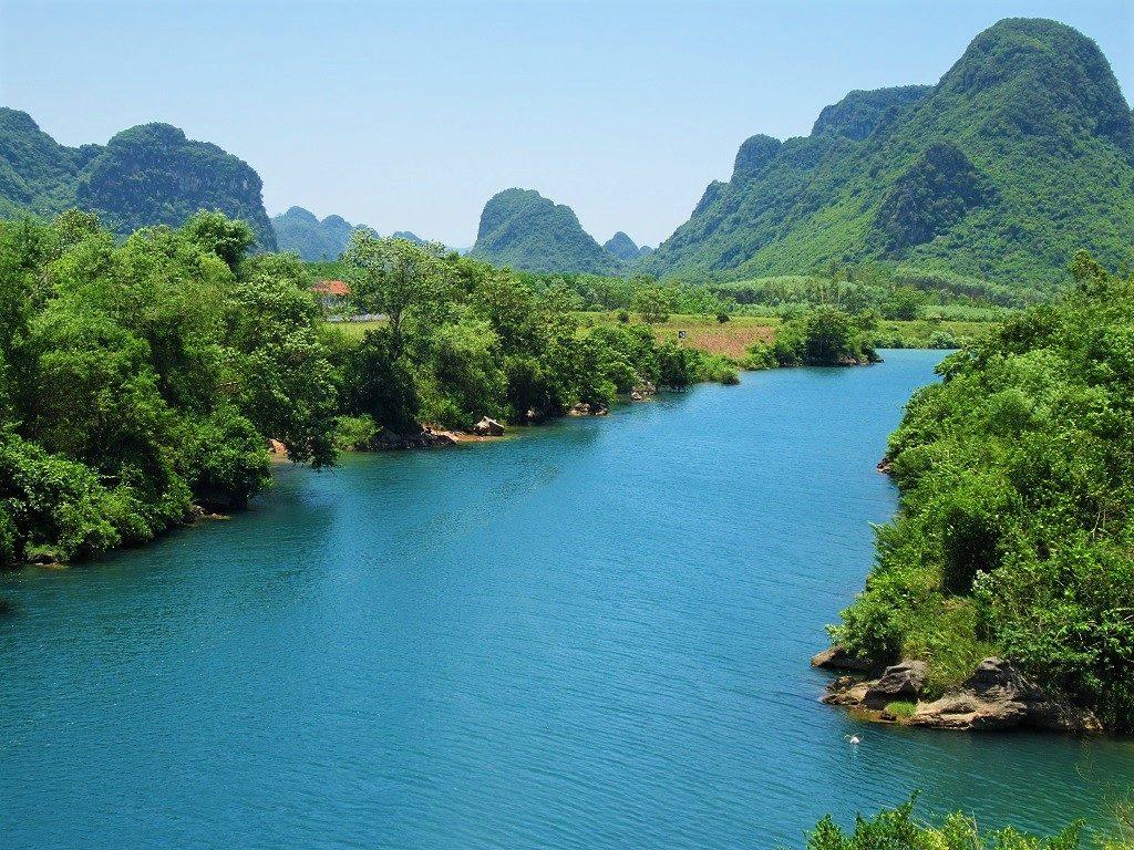 Beautiful blue river, Phong Nha, Vietnam