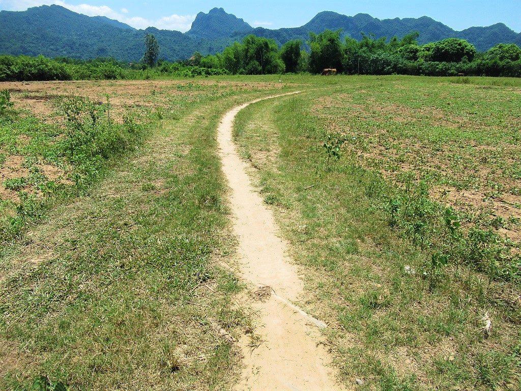 Dirt path through the fields, Phong Nha, Vietnam