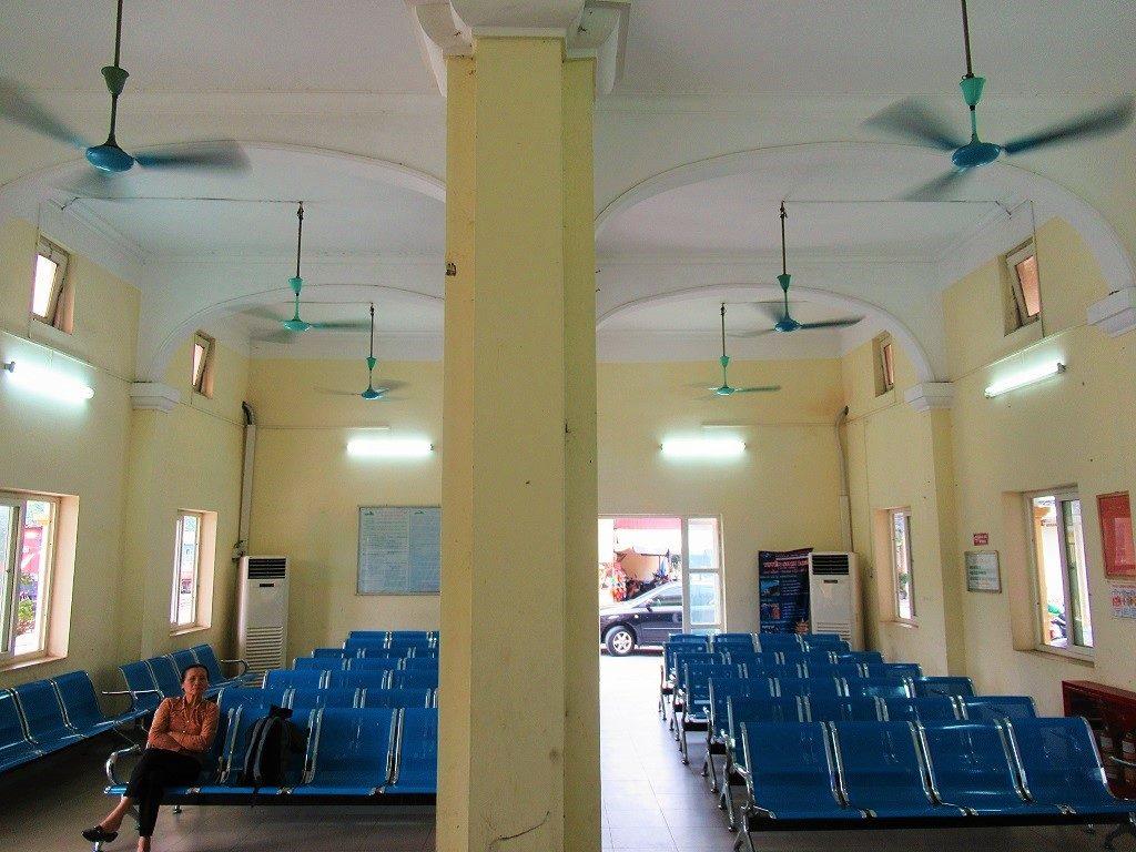 Ticket office at Gia Lam train station, Hanoi, Vietnam