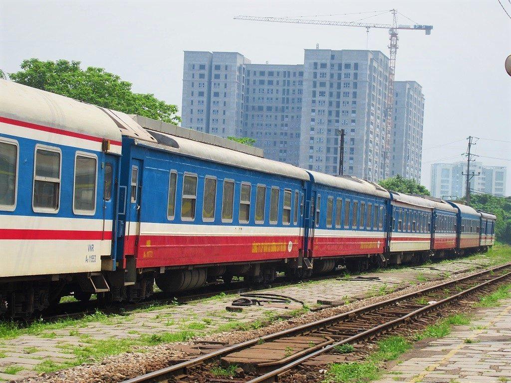 The train between Hanoi & Haiphong, Vietnam