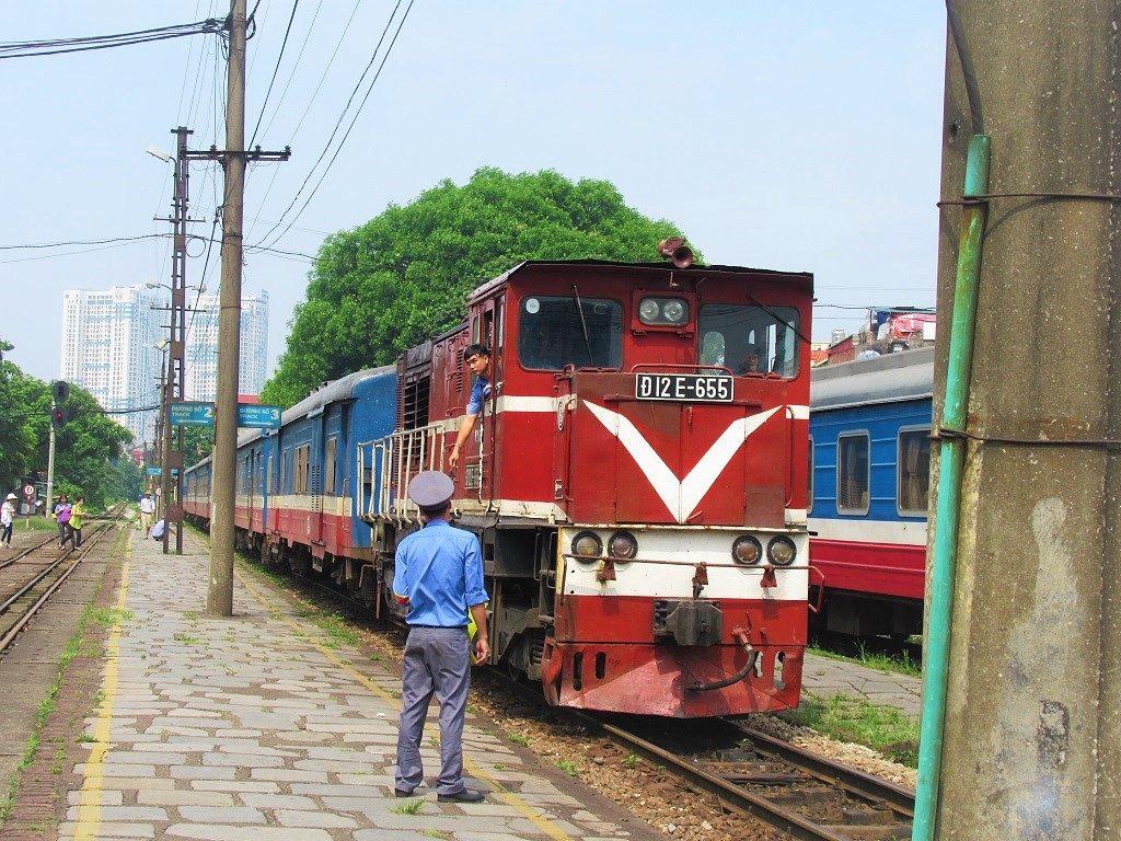 The train between Hanoi & Hai Phong, Vietnam
