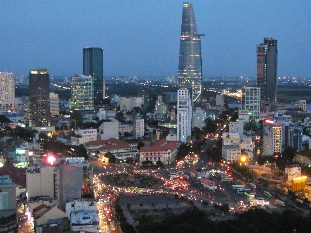 Dusk skyline, Saigon, Ho Chi Minh City, Vietnam