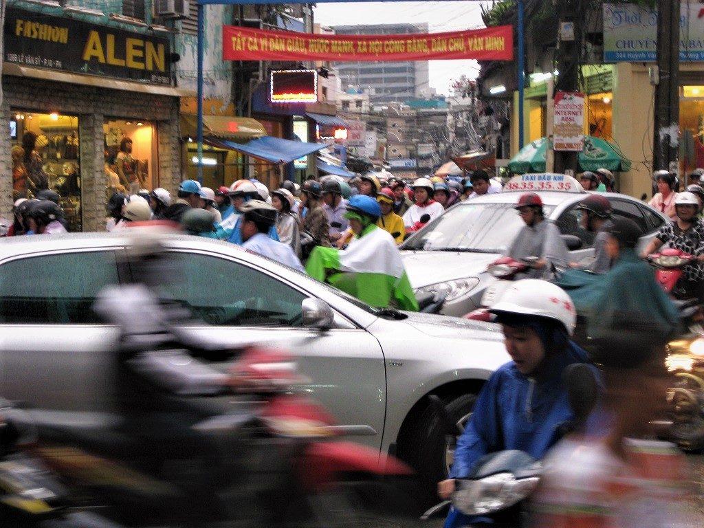 Rush hour traffic, Saigon (Ho Chi Minh City), Vietnam
