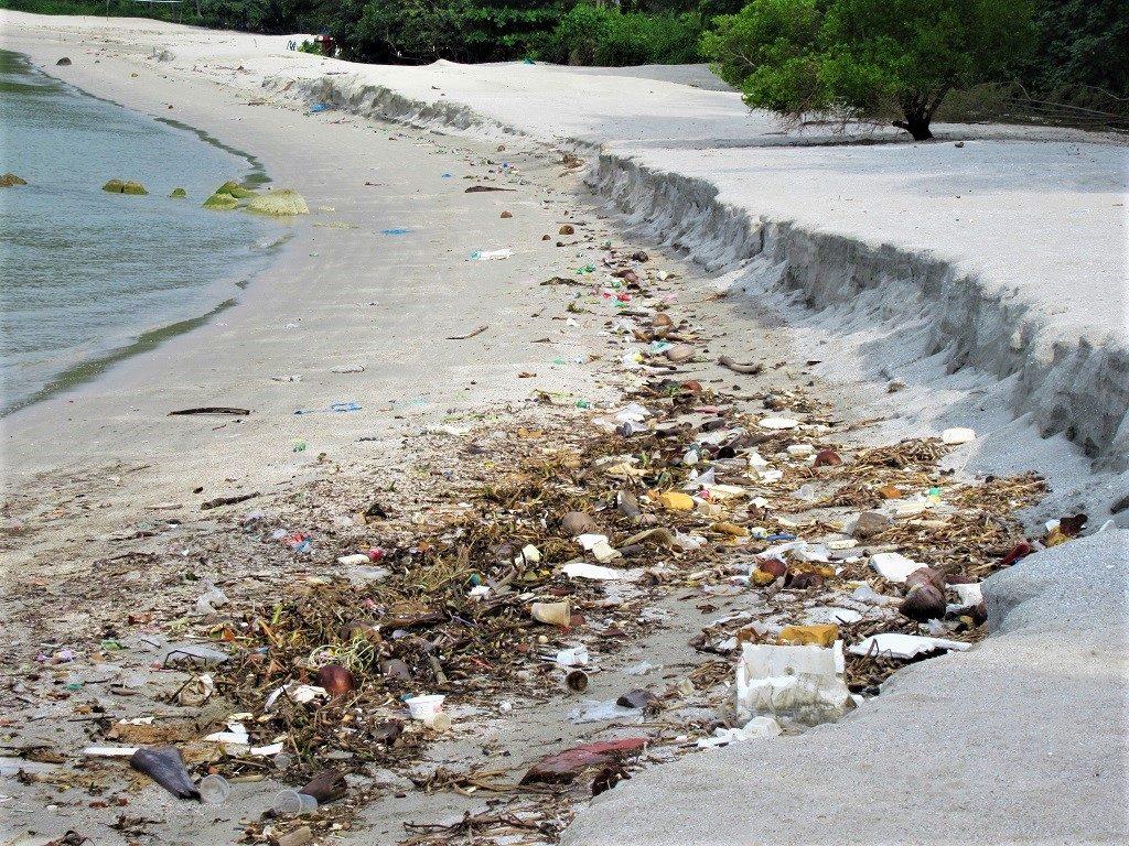 Trash wasted up on Bai Bac beach, Pirate Island, Hai Tac Archipelago, Vietnam