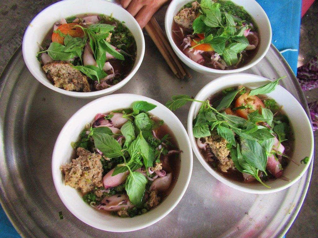 Squid noodle soup, Pirate Island, Hai Tac Archipelago, Vietnam