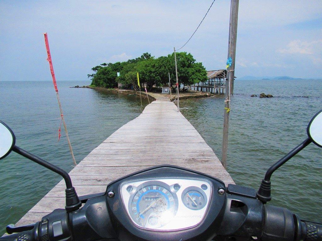 Riding a motorbike around Pirate Island, Dao Hai Tac, Vietnam