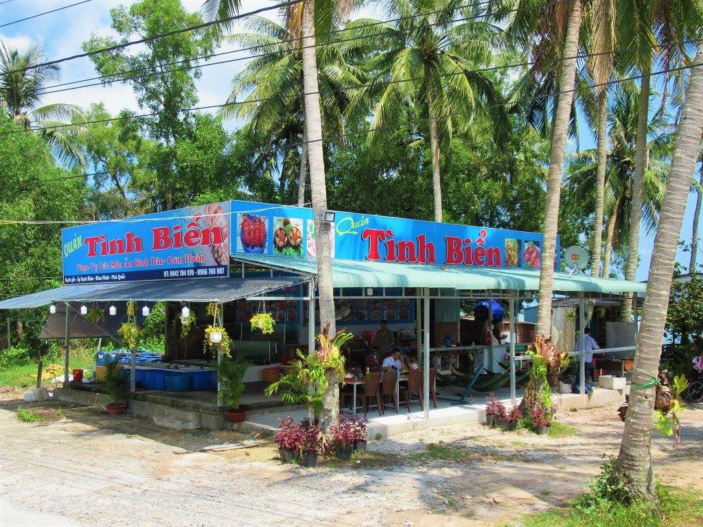Tinh Bien seafood restaurant, East Coast Road, Phu Quoc Island
