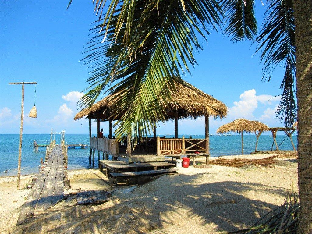 Nam Em seafood restaurants, Bai Thom, Phu Quoc Island, Vietnam