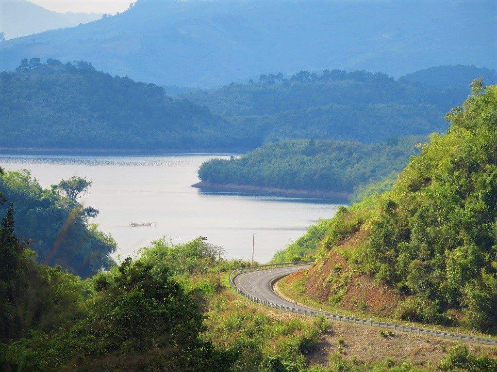 Road around Ta Dung Lake, Dak Nong Province, Vietnam
