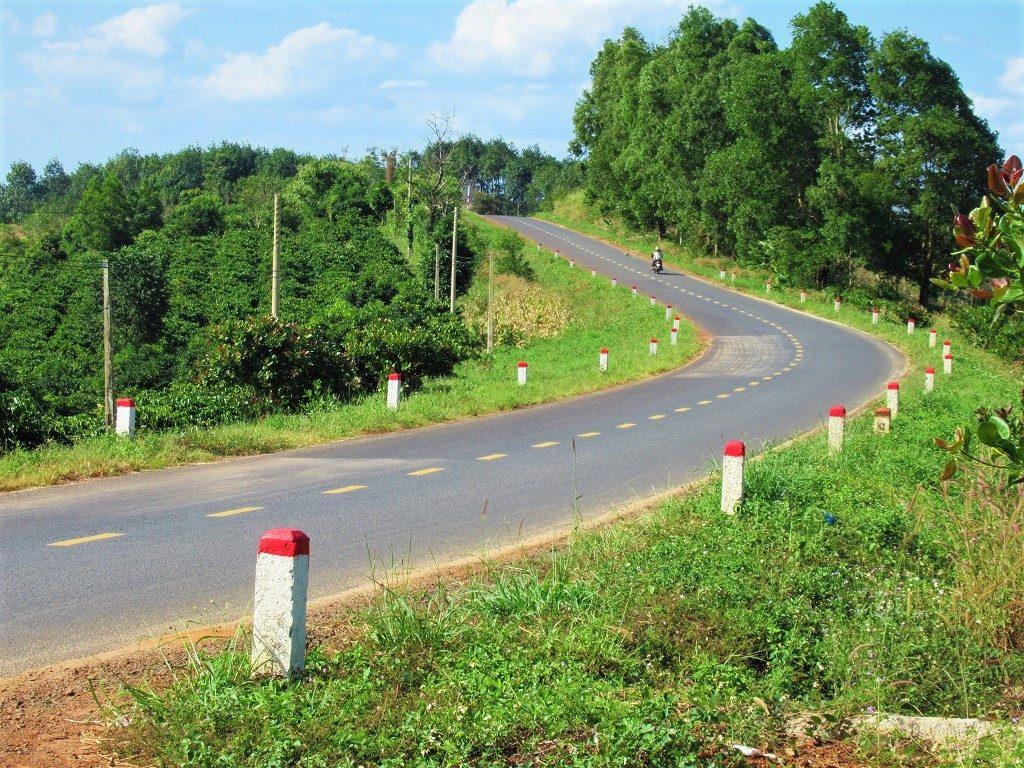 Road DT684 through Dak Nong Geopark, Vietnam