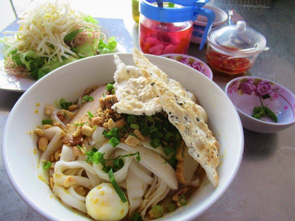 A bowl of mì quảng noodles, Son Tay, Vietnam