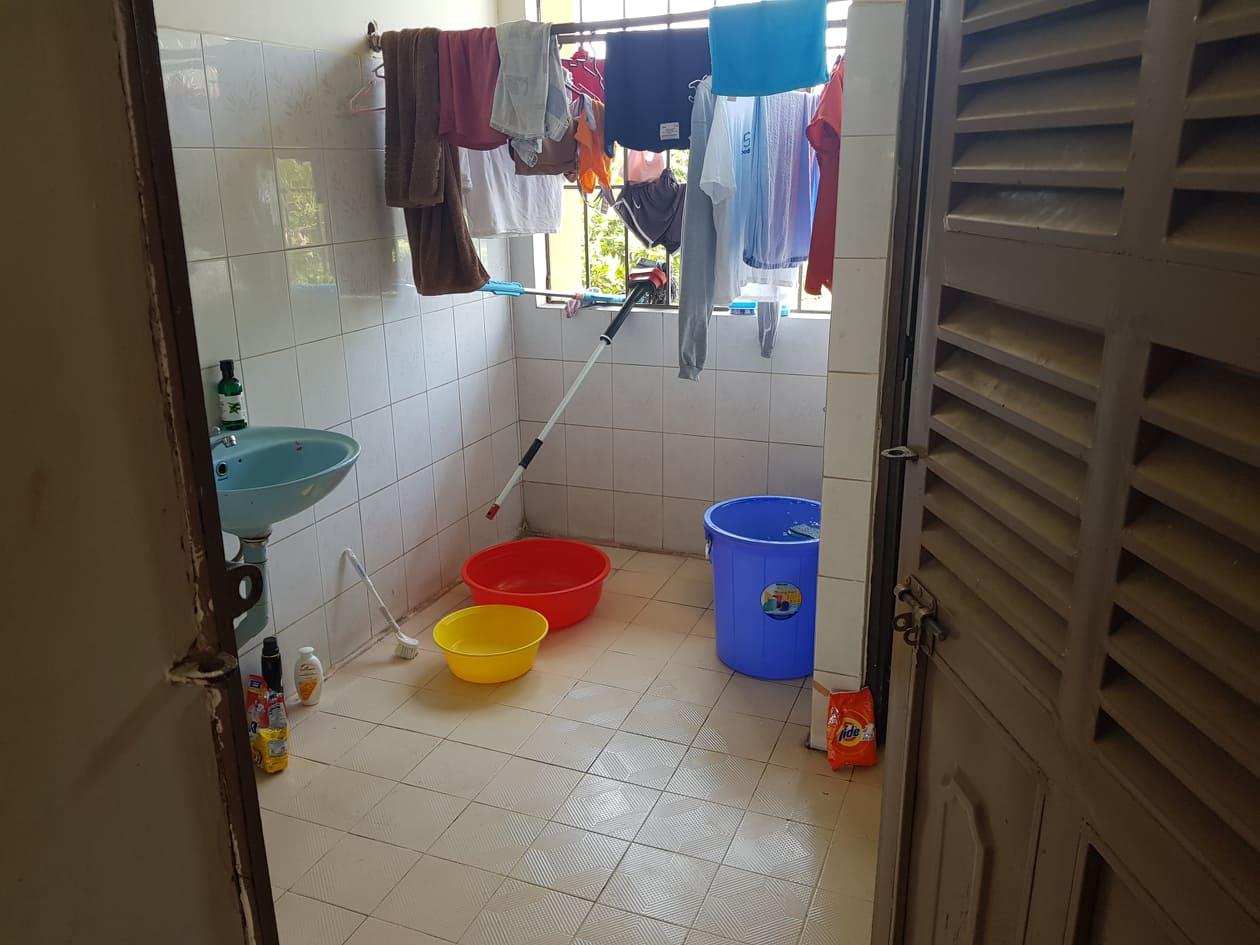 Toilet & showers, COVID-19 quarantine facility, Vietnam
