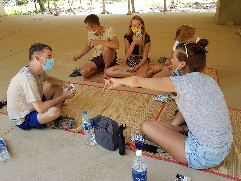 Making friends, COVID-19 quarantine facility, Vietnam
