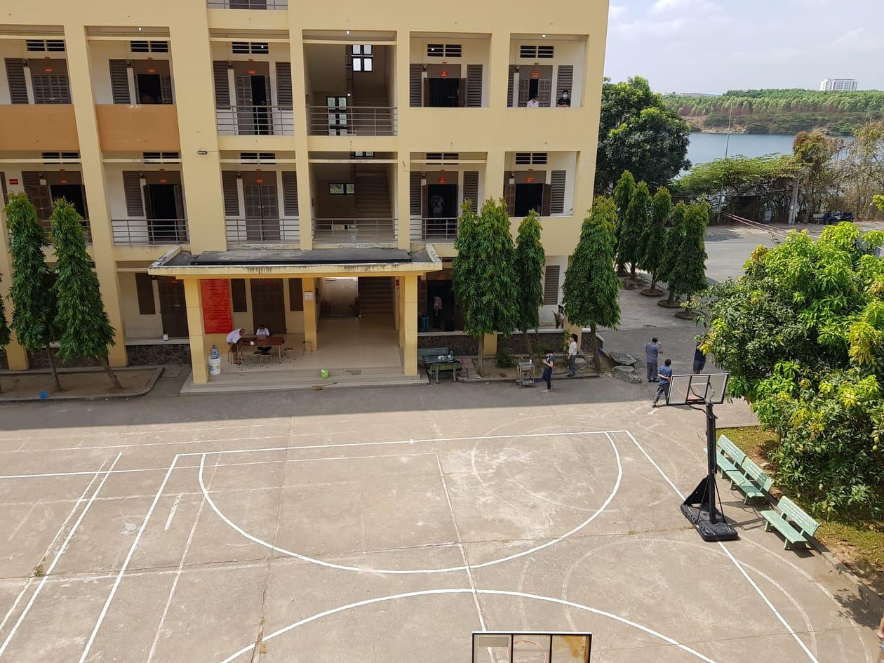 A COVID-19 quarantine facility, Vietnam