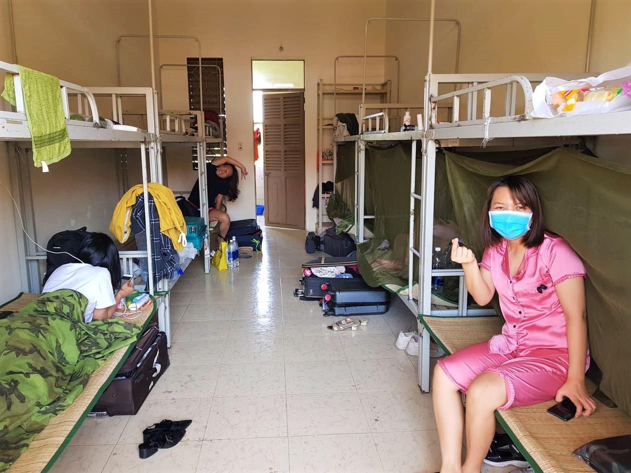 bunk bed dormitories, COVID-19 quarantine facility, Vietnam