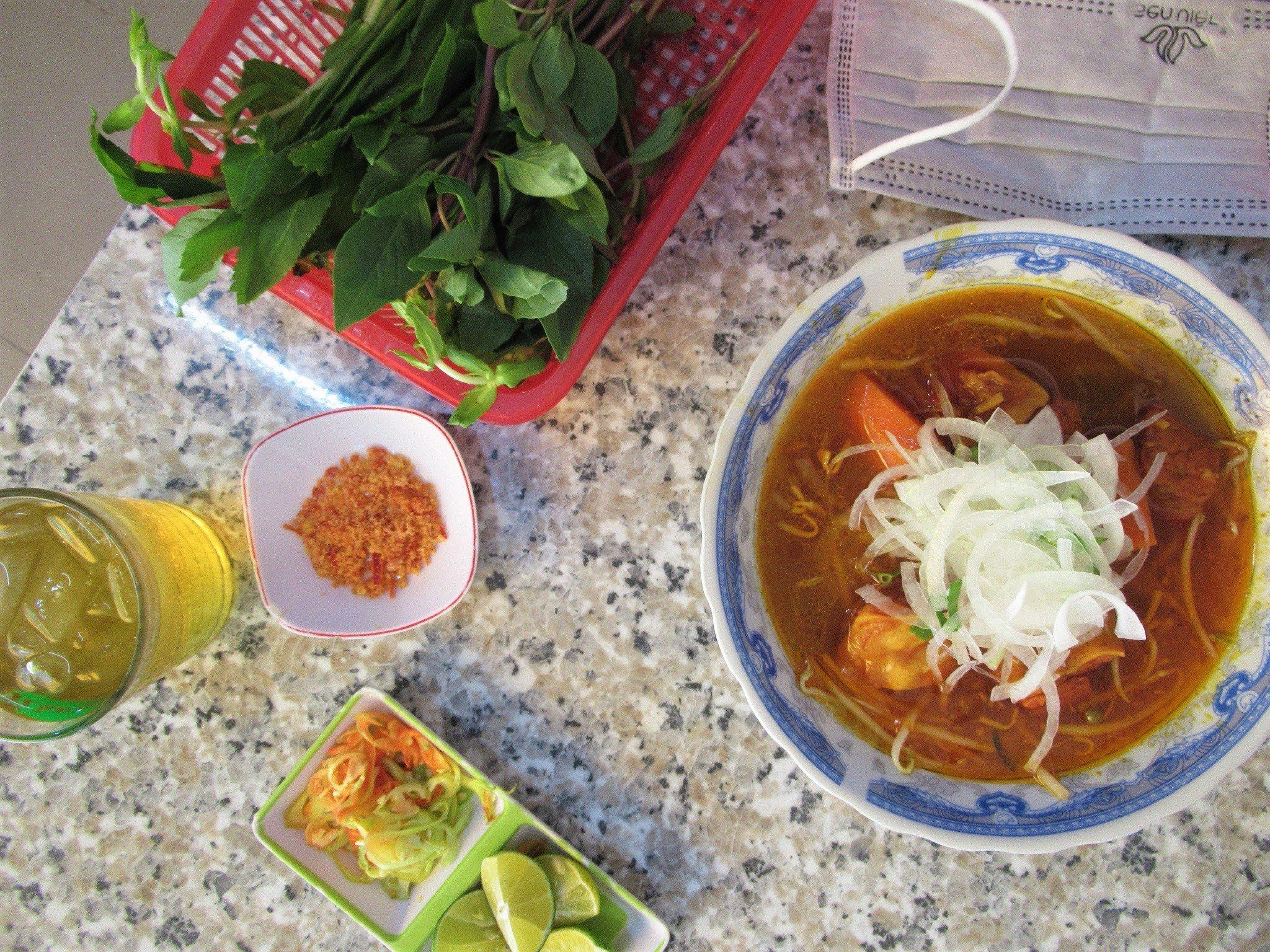 The local diet is healthy in Vung Tau, Vietnam