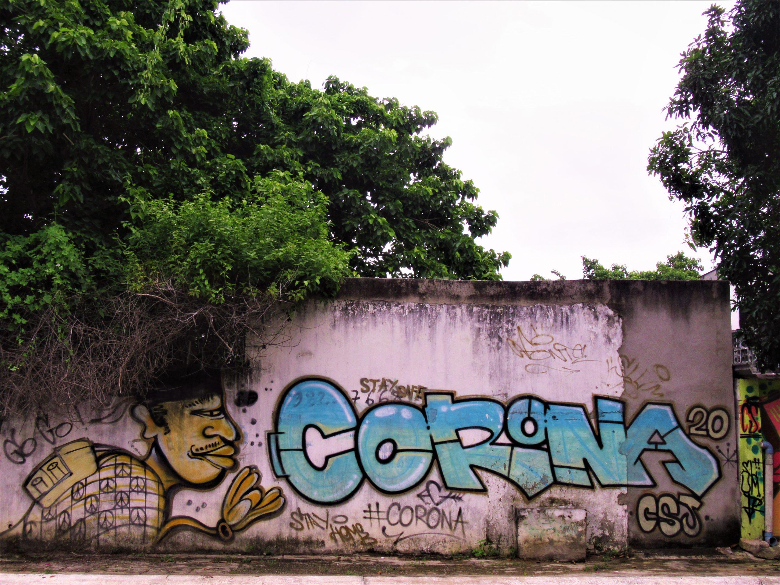 Coronavirus graffiti, Vung Tau, Vietnam