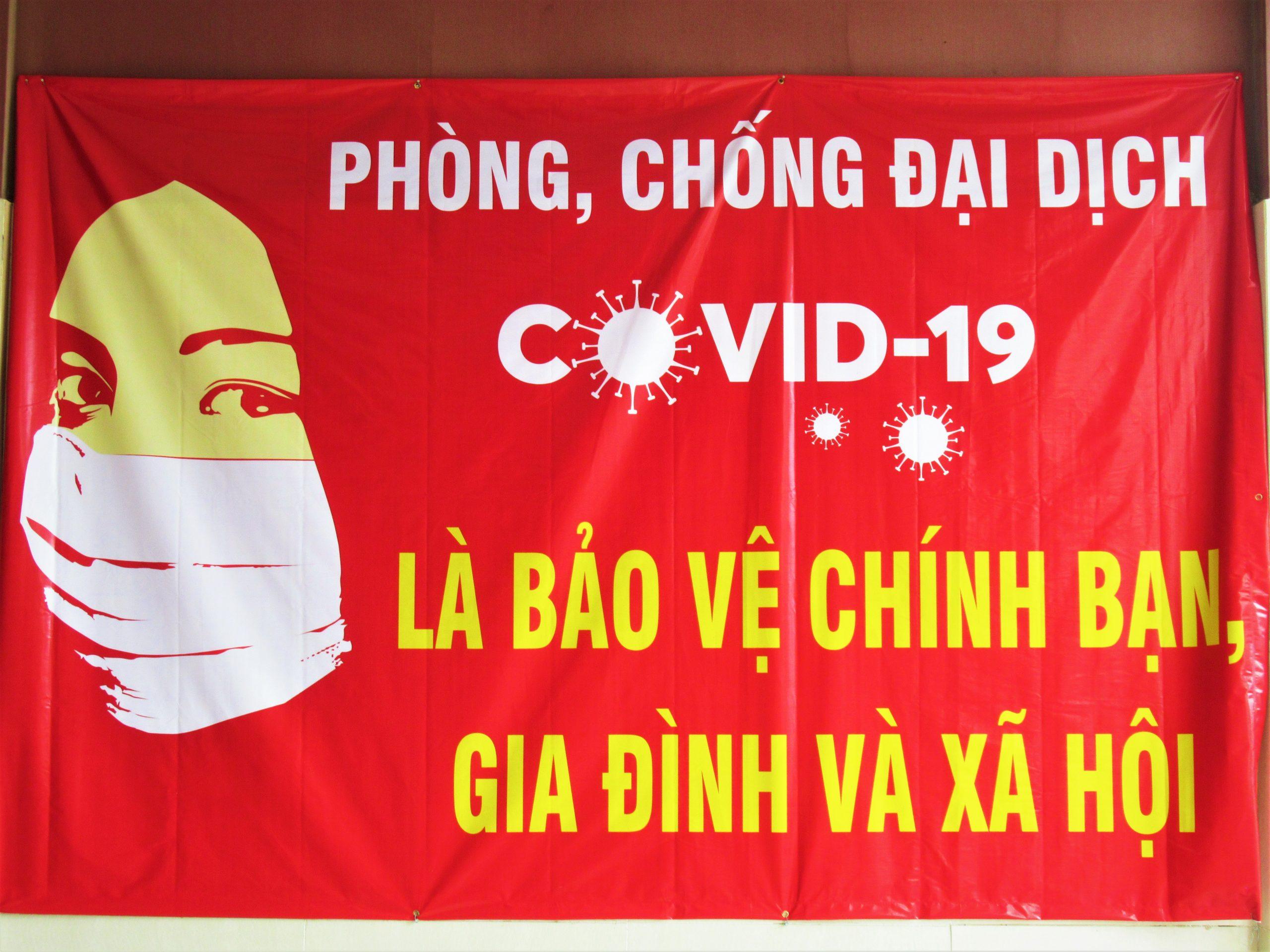 Face mask post, Vietnam