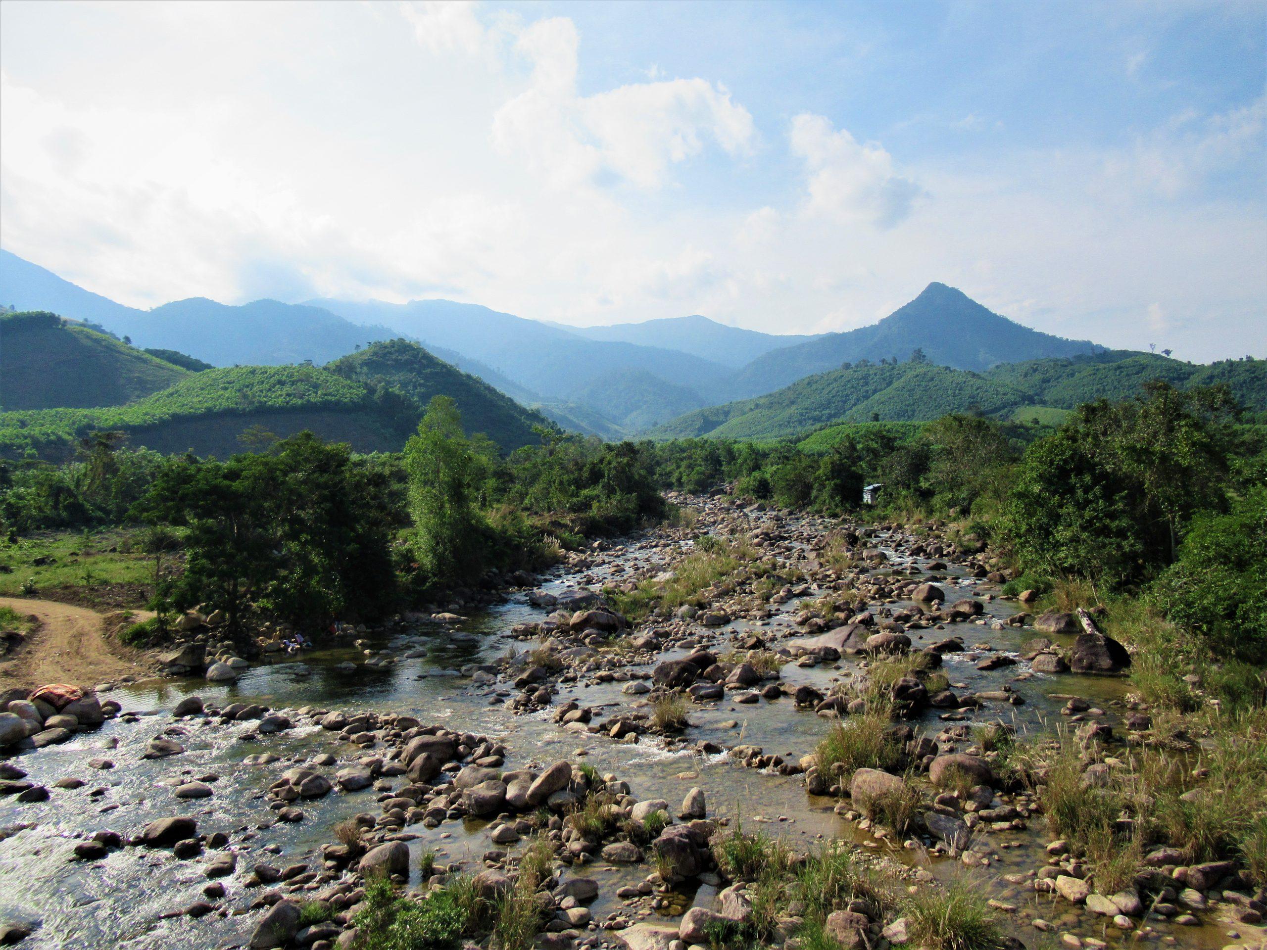 Camping along Khanh Vinh tributaries, Khanh Hoa Province, Vietnam
