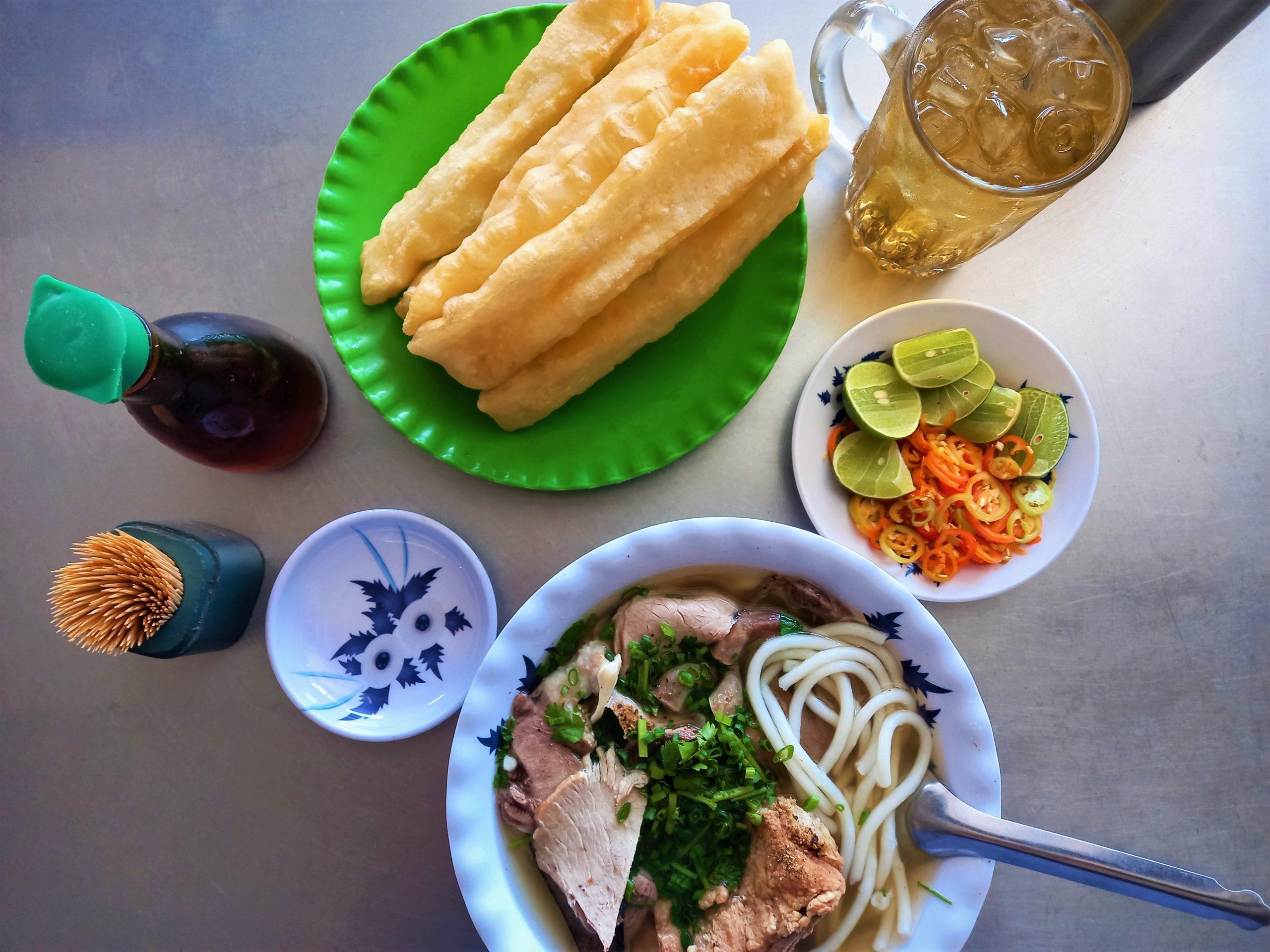 A bowl of bánh canh noodle soup, Tra Vinh Province, Mekong Delta, Vietnam
