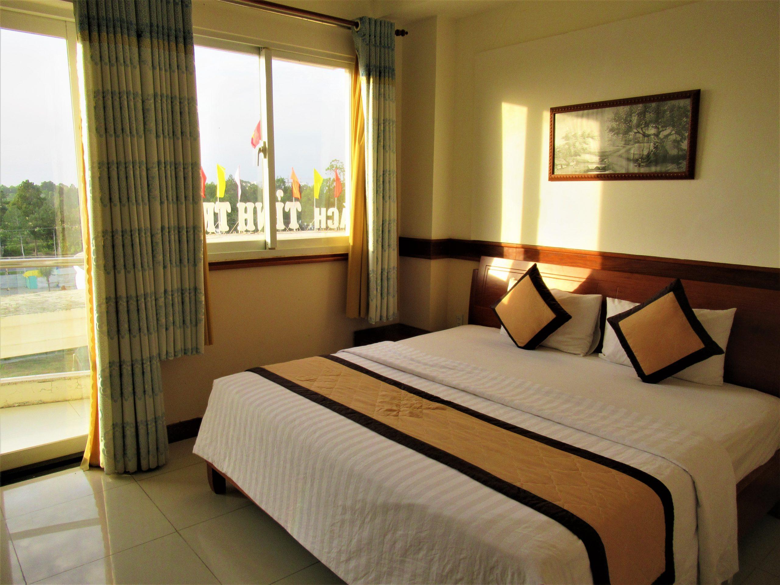 Hotel room in Tra Vinh City, Mekong Delta, Vietnam