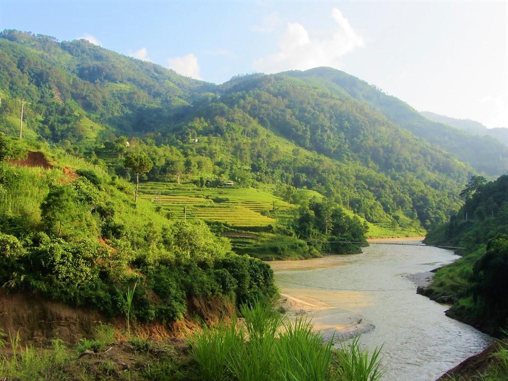 The Chay River valley between Xin Man & Hoang Su Phi