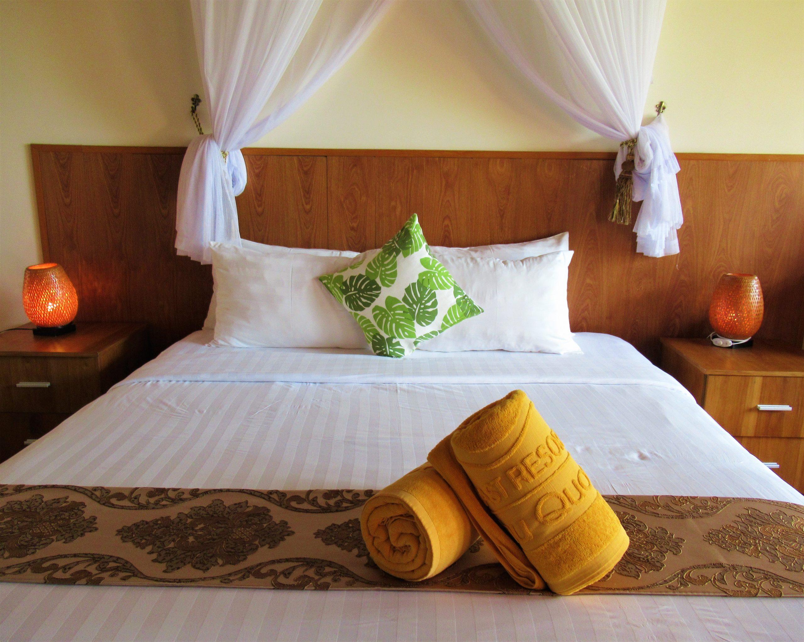 Pool view guest room interior, Gold Coast Resort, Phu Quoc Island, Vietnam