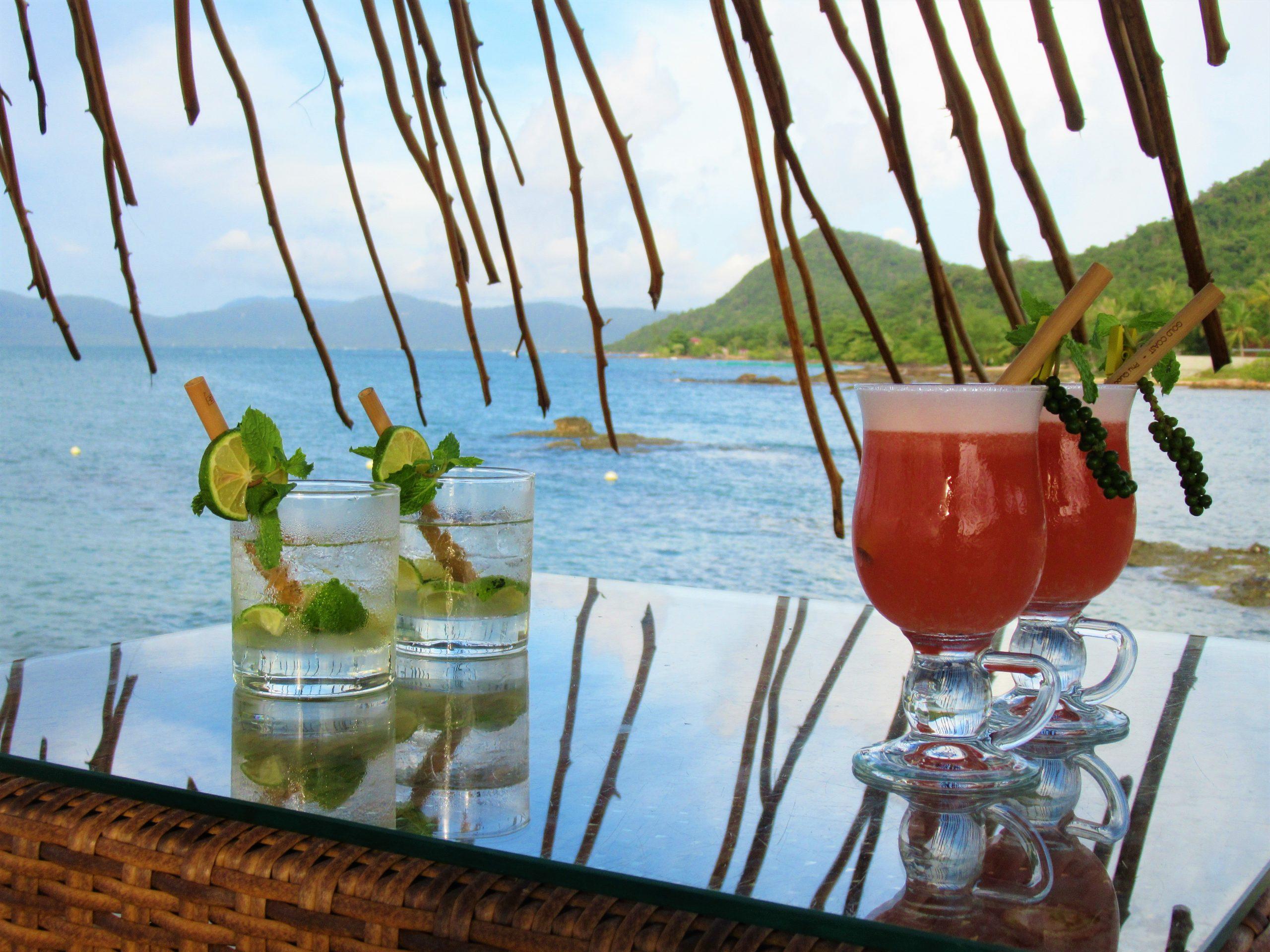 Cocktails at happy hour, Gold Coast Resort, Phu Quoc Island, Vietnam